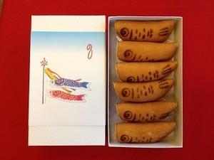 鯉のぼり 6個入|豆大福や上生菓子のお取り寄せ:桐木神楽堂