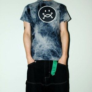 『TARZANKICK!!!』 smiley tie-dye T-shirt M