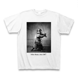 幕末の武士をイギリス国籍のイタリア出身のおっちゃんが撮影したTシャツ