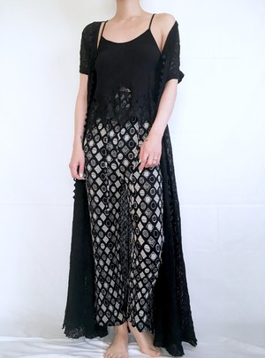 vintage black lace maxi dress