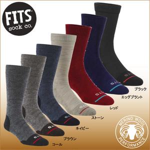 フィッツ F1001-ミディアムハイカー クルー FITS 登山ソックス トレッキング ハイキング靴下