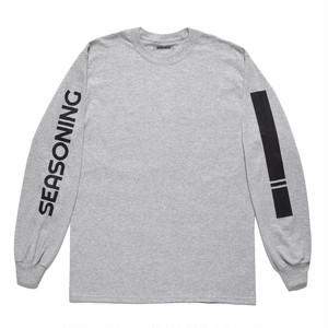 SEASONING LOGO L/S TEE  - GRAY