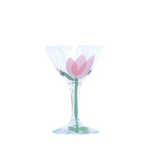 うそみたいなコップ (お花のカクテルグラス) 【1点モノ】