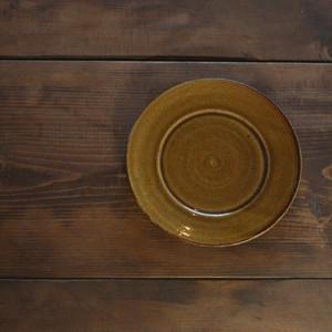 陶工房里一 6寸リム皿