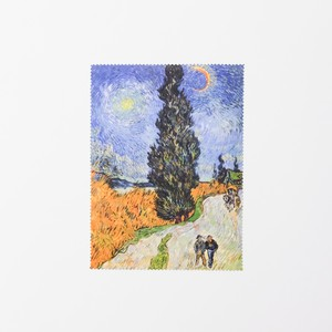 ゴッホ メガネクロス 糸杉と星の見える道