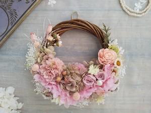 Lune Bonheur<Rose origan>*ハーフムーンリース*プリザーブドフラワー*リース*お花*ギフト*母の日*結婚祝い*新築祝い*お誕生日祝い*フラワーギフト