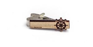 ヴィンテージ ポプラウッド ネクタイピン ホイール Wooden Captains Wheel Tie Bar - Poplar