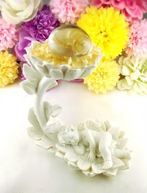5/22新着★幸せを運んでくれる天使のリーフ【水晶タンブル×シトリンさざれ】