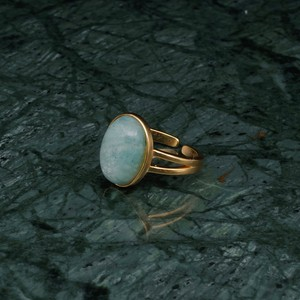 OVAL BIG STONE RING GOLD 006