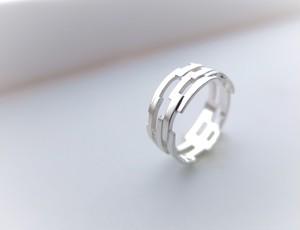 組み木シルバーリング*KUMIKI solid silver ring