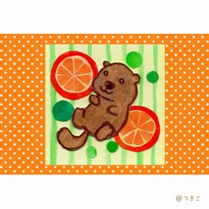 【ポストカード】ラッコ