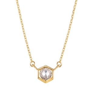 K10YGダイヤモンドネックレス 020209002254