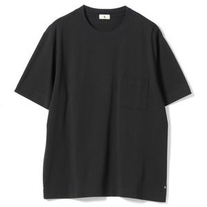 クルーネック ポケットTシャツ(ブラック)