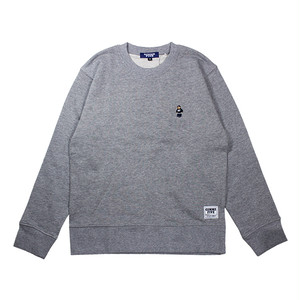 【GIMME FIVE】KUSH BEAR CREW NECK SWEAT(H.GREY)