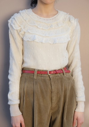 okeshou knit sweater.