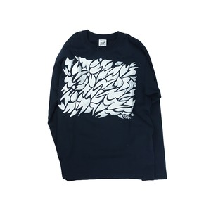 YUJI ODA / Handwriting Plants pattern Long Sleeve / Navy