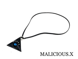 cat eye triangle coin case (mini) / blue(snake/ black)