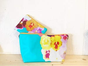 turquoise Pansy / ポシェットセット