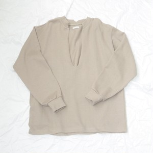Front cut Pullover - Beige