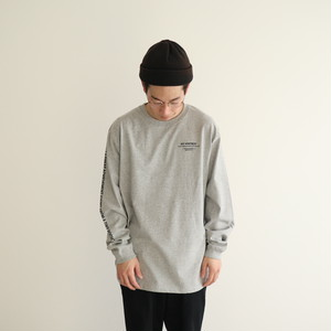 NA Logo Long Sleeve TEE Shirts (Gray)