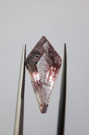 Goethite in Quartz Faceted - 002