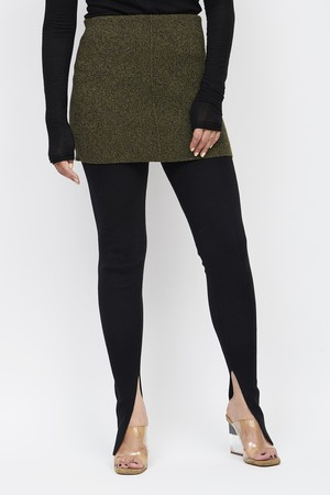 Layered Leggings - MIX GREEN