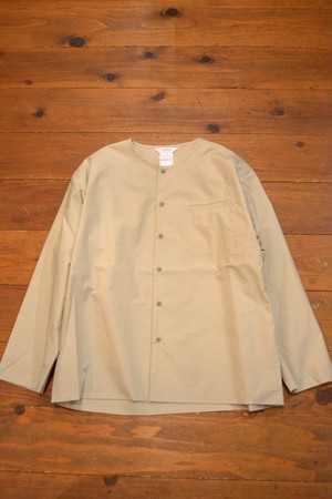 roundabout / L/S Double No Collar Shirt