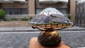 ステンドグラス ティファニースタイル テーブルランプ -ドラゴンフライ-