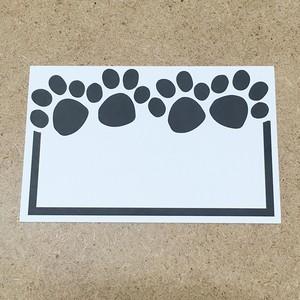 【アメリカ直輸入品】【10枚】肉球カード