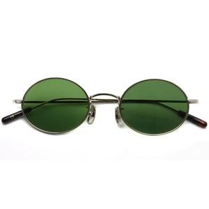 A.D.S.R. / WOLFF02[c] ウォルフ / Silver - Green lenses シルバー-グリーンレンズ オーバルサングラス