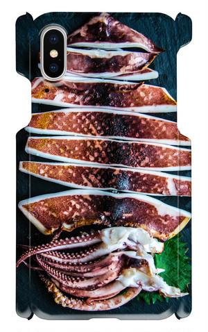 【 iPhoneX用 】イカ天日干し お魚スマホケース 送料込み