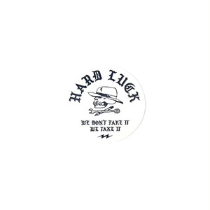 HARD LUCK - TAKE IT STICKER (White) 62mm