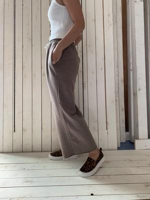 ワイドパンツ :brown