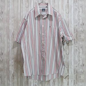 ユーロ ストライプ柄コットンシャツ [C387]