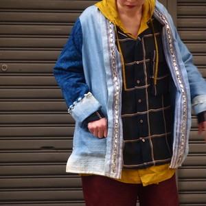 【sandglass】high patch shawl gown/【サンドグラス】ハイ パッチ ショール ガウン