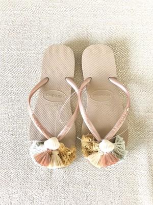 Jelly sandals Shell( Indigo ×Turmeric )