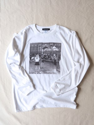 FUJITOSKATEBOARDING Long Sleeve T-Shirt EURO TOUR FIRENZE ver. White