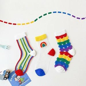 «sold out» rainbow socks 3set レインボーシースルーソックス