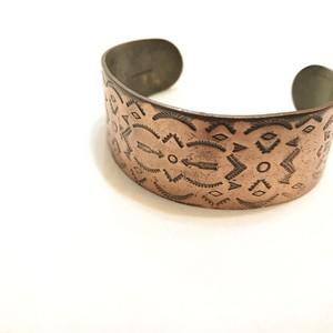 【USED】Vintage ナバホ navajo カッパー バングル solid copper アロー