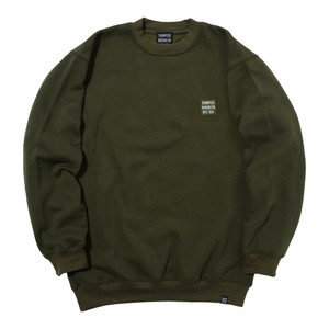 EMBROIDERY LOGO SWEAT CREW (OLIVE)[TH8A-032]