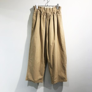 FIRMUM 【フィルマム】 COTTON HEAVY TYPEWRITER  WIDE TAPERED PANTS