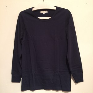 【Merz b.Schwanen】212 CREW NECK LONG SLEEVE [INK BLUE]