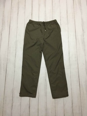 side zip nylon pants / khaki