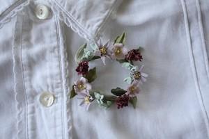 吾亦紅とヨメナの布花ブローチ