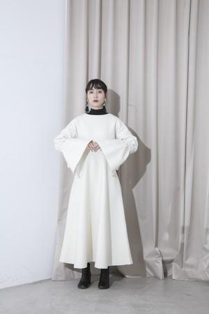 wool flare dress