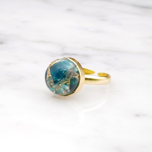 SINGLE BIG STONE RING GOLD 120