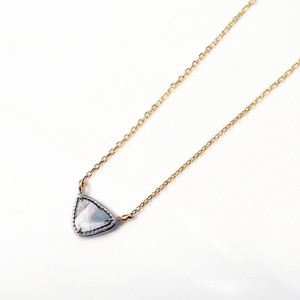 Sliced Diamond Necklace / White & Yellow Gold