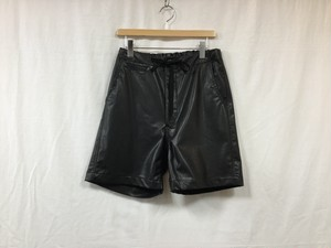 "bukht""LEATHER SHORT BLACK"""