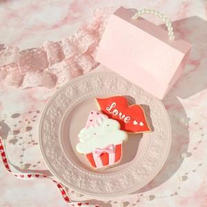 【数量限定】リップ+カップケーキ♡アイシングクッキー(ピンクbag)