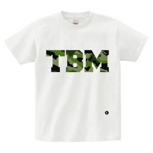 TSUBOMIN / CAMO TBM LOGO T-SHIRT WHITE x GREEN CAMO